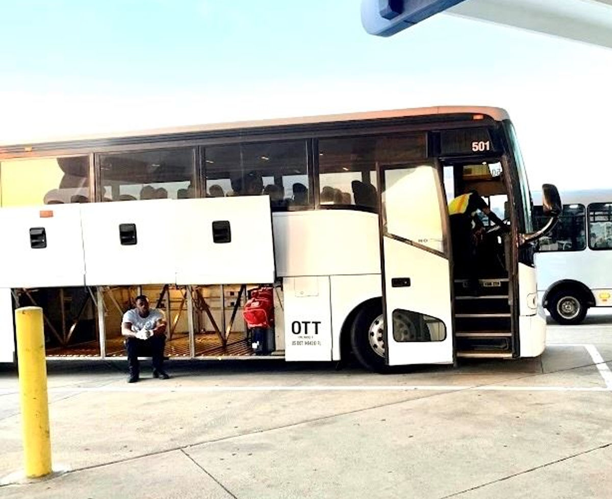 Bus Rental Interior